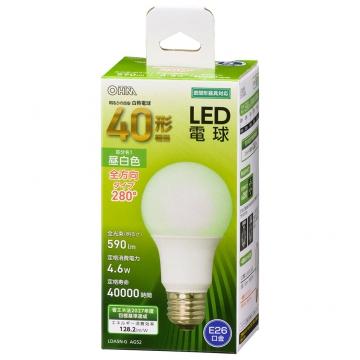 LED電球 E26 40形相当 昼白色 [品番]06-4455