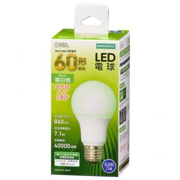 LED電球 E26 60形相当 昼白色 [品番]06-4458