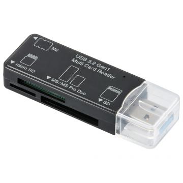 マルチカードリーダー 49メディア対応 USB3.2Gen1 ブラック [品番]01-3969