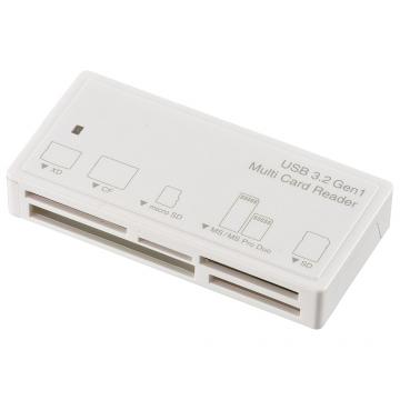 マルチカードリーダー 55メディア対応 USB3.2Gen1 ホワイト [品番]01-3970