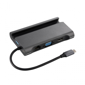 マルチドッキングアダプター USBTypeCコネクタ搭載 [品番]01-3978