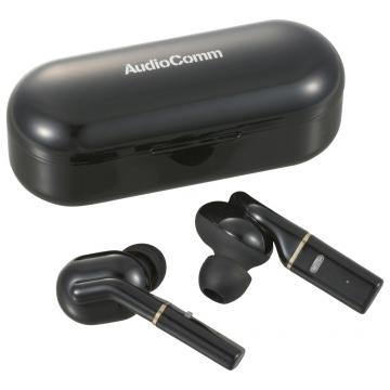 AudioComm 完全ワイヤレスイヤホン ブラック [品番]03-0766