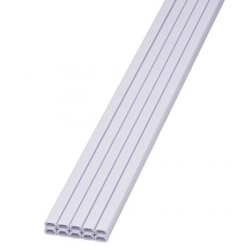 テープ付ABSモール0号 1m ホワイト 10本入 [品番]00-9200
