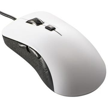 静音マウス 有線 BlueLED Lサイズ 抗菌 ホワイト [品番]01-3985