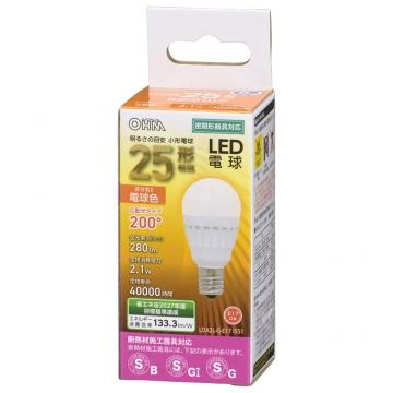 LED電球 小形 E17 25形相当 電球色 [品番]06-4471