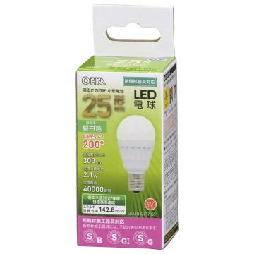 LED電球 小形 E17 25形相当 昼白色 [品番]06-4472