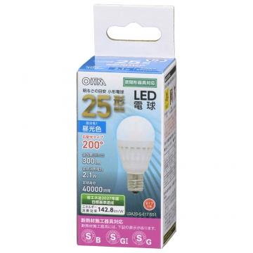 LED電球 小形 E17 25形相当 昼光色 [品番]06-4473