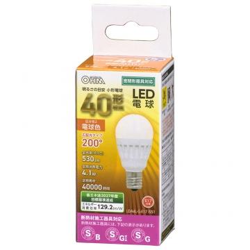 LED電球 小形 E17 40形相当 電球色 [品番]06-4474