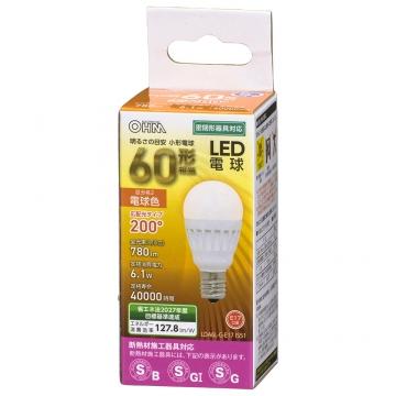 LED電球 小形 E17 60形相当 電球色 [品番]06-4477