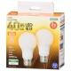 LED電球 E26 40形相当 全方向 電球色 2個入 [品番]06-4704