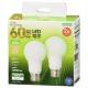 LED電球 E26 60形相当 昼白色 全方向 2個入 [品番]06-4708