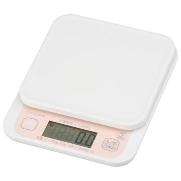 クッキングスケール ご飯カロリーボタン付き 2kg 抗菌仕様 [品番]07-8922