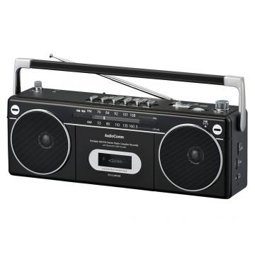 AudioComm マイクが使えるステレオラジカセ [品番]07-8994
