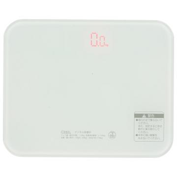 デジタル体重計 ホワイト [品番]08-1182