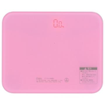 デジタル体重計 ピンク [品番]08-1183