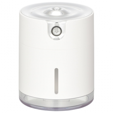 USB卓上加湿器 充電式 ホワイト [品番]08-3242